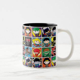 Chibi Justice League Character Pattern Two-Tone Coffee Mug