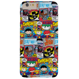 Chibi Justice League Comic Book Pattern Barely There iPhone 6 Plus Case