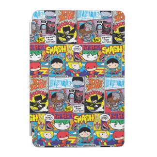 Chibi Justice League Comic Book Pattern iPad Mini Cover
