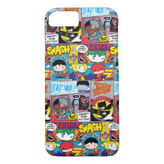 Chibi Justice League Comic Book Pattern iPhone 7 Case
