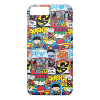 Chibi Justice League Comic Book Pattern iPhone 7 Plus Case
