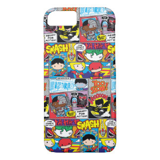 Chibi Justice League Comic Book Pattern iPhone 8/7 Case
