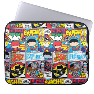 Chibi Justice League Comic Book Pattern Laptop Sleeve