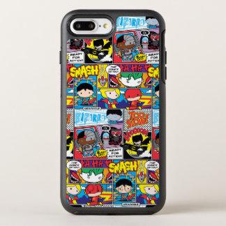Chibi Justice League Comic Book Pattern OtterBox Symmetry iPhone 7 Plus Case