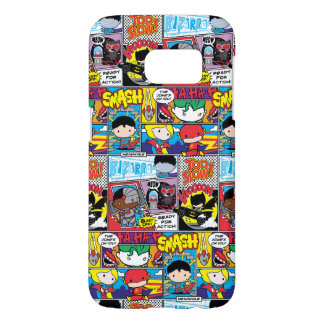 Chibi Justice League Comic Book Pattern Samsung Galaxy S7 Case