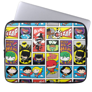 Chibi Justice League Compilation Pattern Laptop Sleeves