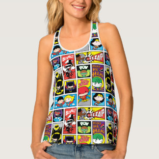 Chibi Justice League Compilation Pattern Tank Top