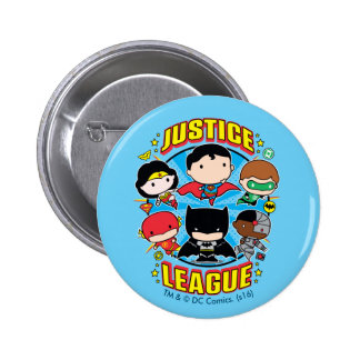 Chibi Justice League Group 2 Inch Round Button