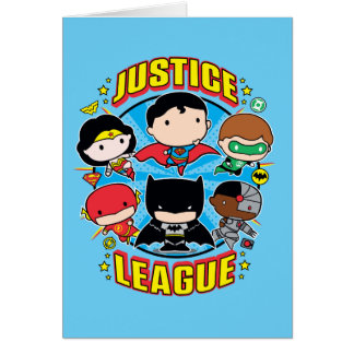 Chibi Justice League Group Card