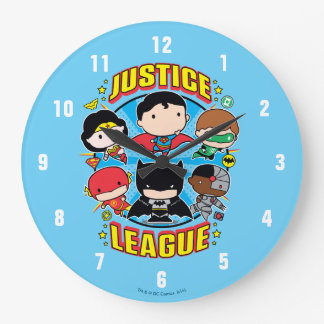 Chibi Justice League Group Large Clock