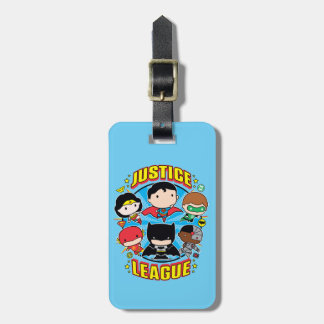 Chibi Justice League Group Luggage Tag