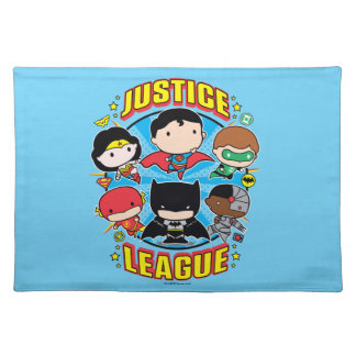 Chibi Justice League Group Placemat