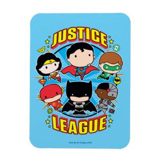 Chibi Justice League Group Rectangular Photo Magnet