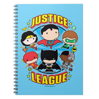 Chibi Justice League Group Spiral Notebook
