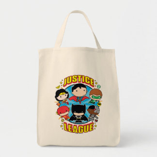 Chibi Justice League Group Tote Bag