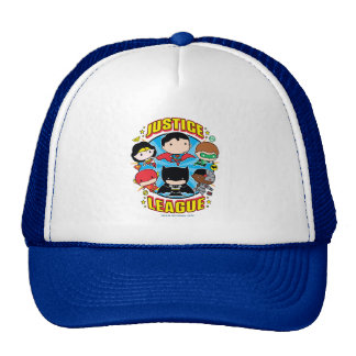 Chibi Justice League Group Trucker Hat