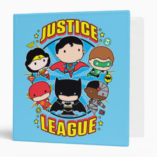 Chibi Justice League Group Vinyl Binders