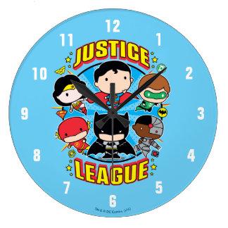 Chibi Justice League Group Wallclock