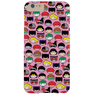 Chibi Justice League Head Pattern Barely There iPhone 6 Plus Case