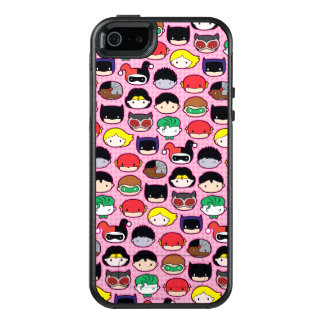 Chibi Justice League Head Pattern OtterBox iPhone 5/5s/SE Case