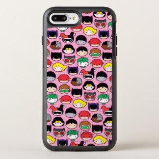 Chibi Justice League Head Pattern OtterBox Symmetry iPhone 7 Plus Case