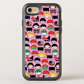 Chibi Justice League Head Pattern OtterBox Symmetry iPhone 8/7 Case