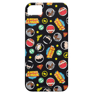 Chibi Justice League Heroes and Logos Pattern iPhone 5 Case