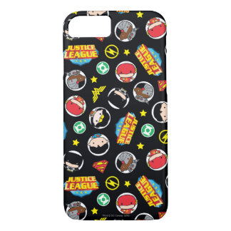Chibi Justice League Heroes and Logos Pattern iPhone 7 Case