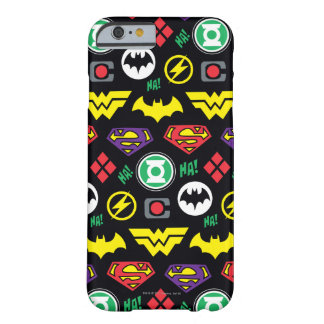 Chibi Justice League Logo Pattern Barely There iPhone 6 Case