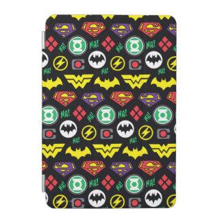 Chibi Justice League Logo Pattern iPad Mini Cover