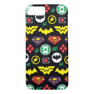 Chibi Justice League Logo Pattern iPhone 7 Case