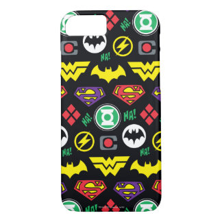 Chibi Justice League Logo Pattern iPhone 8/7 Case