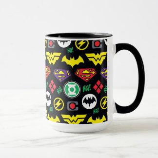 Chibi Justice League Logo Pattern Mug