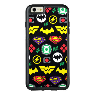 Chibi Justice League Logo Pattern OtterBox iPhone 6/6s Plus Case