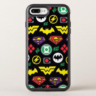 Chibi Justice League Logo Pattern OtterBox Symmetry iPhone 7 Plus Case