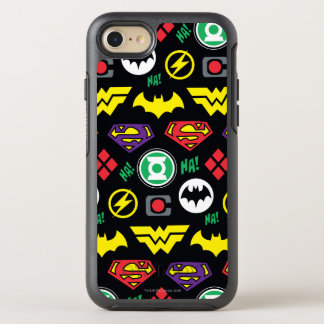 Chibi Justice League Logo Pattern OtterBox Symmetry iPhone 8/7 Case