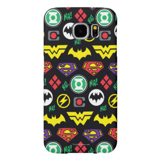 Chibi Justice League Logo Pattern Samsung Galaxy S6 Cases