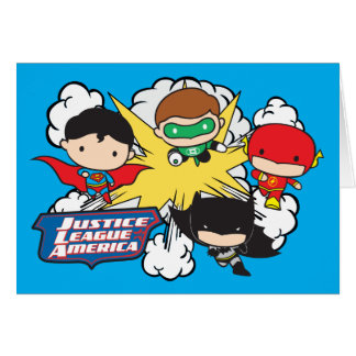 Chibi Justice League of America Explosion Card