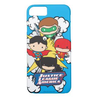 Chibi Justice League of America Explosion iPhone 7 Case