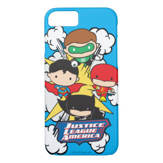 Chibi Justice League of America Explosion iPhone 8/7 Case