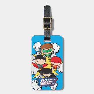 Chibi Justice League of America Explosion Luggage Tag