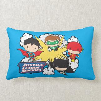 Chibi Justice League of America Explosion Lumbar Pillow