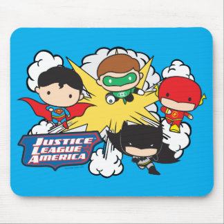 Chibi Justice League of America Explosion Mouse Pad
