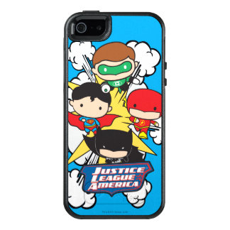 Chibi Justice League of America Explosion OtterBox iPhone 5/5s/SE Case
