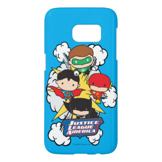 Chibi Justice League of America Explosion Samsung Galaxy S7 Case