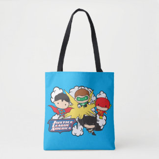 Chibi Justice League of America Explosion Tote Bag