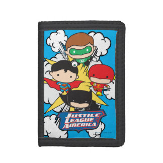 Chibi Justice League of America Explosion Trifold Wallets