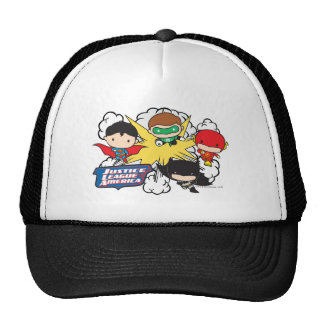 Chibi Justice League of America Explosion Trucker Hat