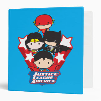 Chibi Justice League of America Stars 3 Ring Binders