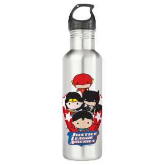 Chibi Justice League of America Stars 710 Ml Water Bottle